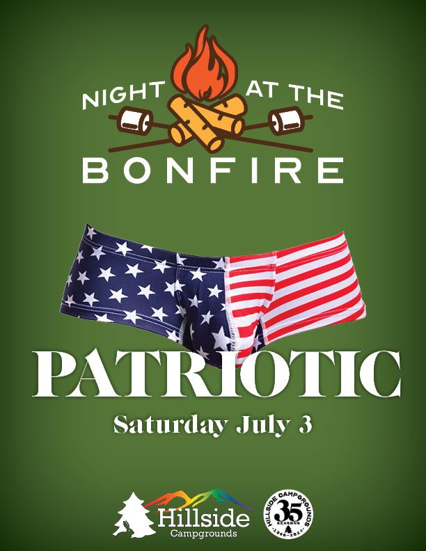 night at bonfire july 4 patriotic
