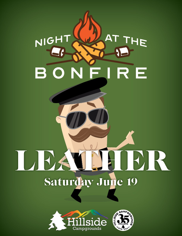 night at bonfire leather