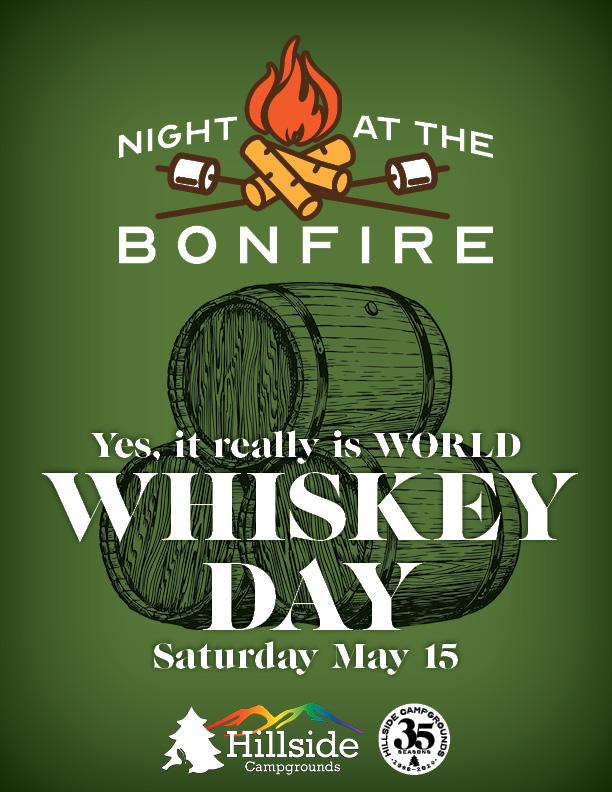 night at bonfire whiskey